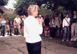 """Ausstellungseröffnung """"10 Jahre Kreativzentrum Grünau""""  27. Mai 2003"""