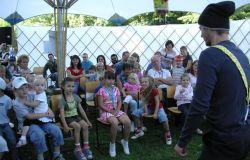 Lese-und Mitmachzelt zum Schönauer  Parkfest 2008