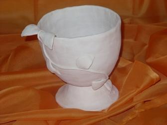 Keramik - nach erstem Brennvorgang