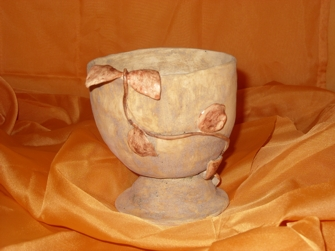 Keramik - Kelch mit Glasur