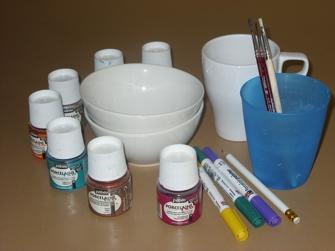 Porzellanmalerei - Material
