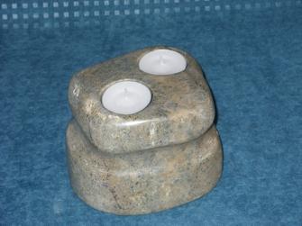 Speckstein - Kerzenhalter